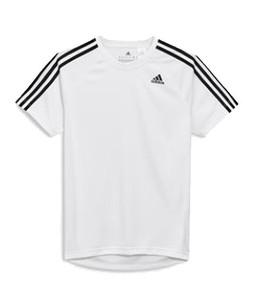Next Adidas 3 Stripe D2M Mens T-Shirt White (726-483)