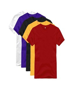Mardaz Pack of 5 - Multicolor Cotton Basic T-Shirts For Men