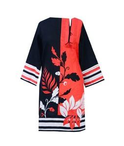 Khas Stores Khaddar Kurti For Women Red Mix (DR-160)