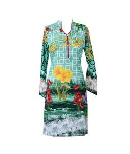 Khas Stores Khaddar Kurti For Women Multi Green (DR-188)