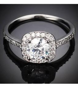 Shoppingmania Mosaic Diamond Ring For Women Silver (0078)