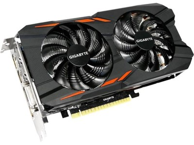 Gigabyte GeForce GTX 1050 Ti Windforce OC 4G Graphics Card (GV-N105TWF2OC-4GD)