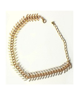Rhizmall Alloy Alvera Anklet For Women - Golden