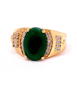 Eshaal Fashion Emerald Stone Womens Gold Plated Ring