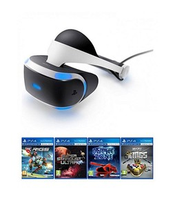 Sony PlayStation VR Headset with 4 VR Games