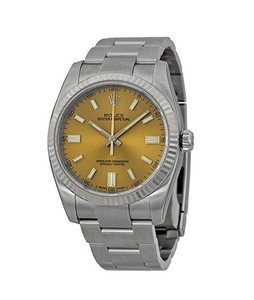 Rolex Oyster Perpetual Mens Watch Silver (116034WGSO)