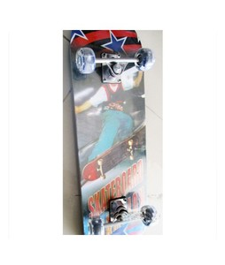 M Toys Wooden Skate Board - Large with light in wheels (TR1022017)
