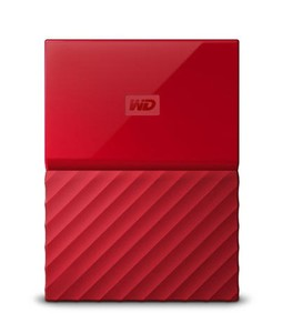 WD My Passport 1TB Portable External Hard Drive Red (WDBYNN0010BRD)