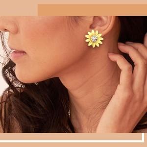 Waks Pk Fashion 925 Sterling Silver Hoop Earring Gold For Women (0144)