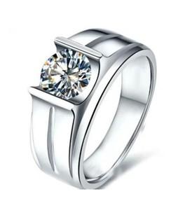 Silver Counter Diamond Ring For Men - Silver (0002)