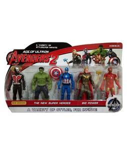 Planet X Avengers Assemble Super Hero Action Figure Pack of 5 (PX-10134)