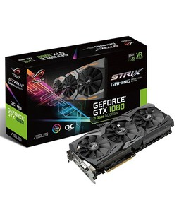ASUS ROG Strix GeForce GTX 1080 OC edition 8GB 11Gbps Gaming Graphics Card (GTX1080-O8G-11GBPS)