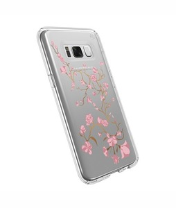 Speck Presidio Clear + Print Golden Blossoms Pink Case For Galaxy S8+