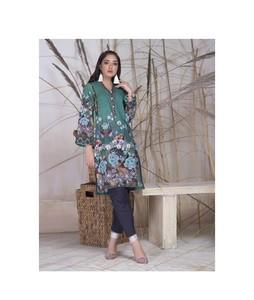 Khas Stores Khaddar Kurti For Women Dark Green Mix (DR-149)