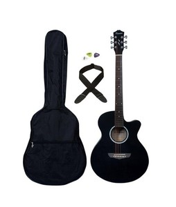 Forbes Store 40 Acoustic Guitar With Bag Strap Picks Black