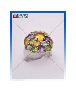 Gilgit Bazar Topaz and Peridot Stone Ring For Women (GB1148)