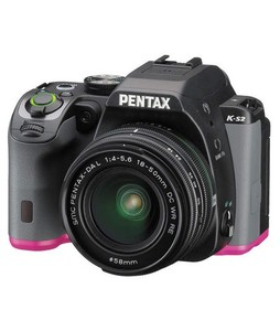 Pentax K-S2 DSLR Camera Black/Pink With 18-50mm Lens