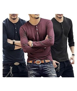Aybeez Cotton Pocket Button T-Shirts For Men Pack Of 3