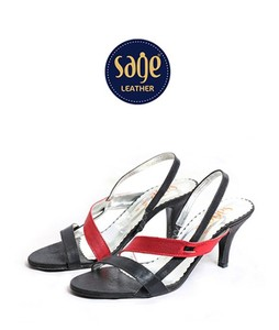 Sage Leather Heels For Women Black (9099)