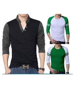 MM Mart Pack Of 3 Long Sleeve T-Shirt For Men Multicolor (1162)