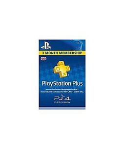 Sony PlayStation Plus 3 Month Membership Card UK For PS3/PS4/PS Vita