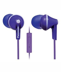 Panasonic ErgoFit In-Ear Headphones with Mic Violet (RP-TCM125E)