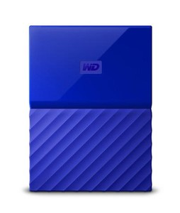 WD My Passport 1TB Portable External Hard Drive Blue (WDBYNN0010BBL)