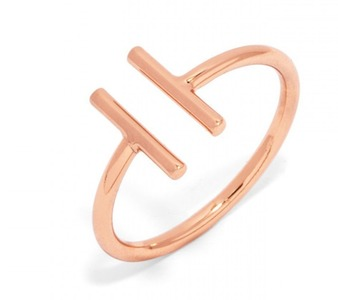 Baublebar Parallel Bar Rose Gold Ring