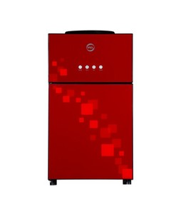 PEL Desire Glass Door Table Top Water Dispenser Red (PWD-115 TT GD)