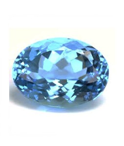 Mujahid Traders Swiss Topaz Stone For Ring Blue - 17 Crt