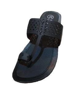 TA Shopping Kolapuri Slipper For Men Black (SCM21)
