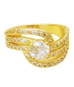 Waks Pk Gold Plated Ring For Women (0352)