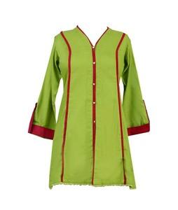 Khas Stores Khaddar Kurti For Women Parrot Green (KHT-020)