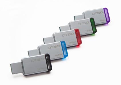 Kingston 128GB USB 3.0 Metal Flash Drive (DT50)