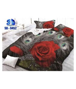 RGshop 3D Double Bed Sheet (SD-0452)