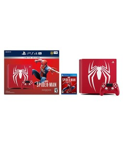 Sony Playstation 4 Pro 1TB Limited Edition Console - Marvel's Spider Man Bundle