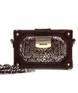 Julke Glam Mini Box Occasion Wear Womens Clutch Burnished Bronze