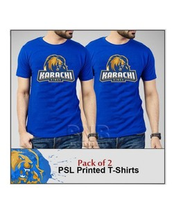 Fashion Zone Karachi Kings Printed T-Shirts For Men Pack of 2 (FZ-HS-536)