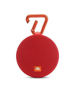 JBL Clip 2 Waterproof Portable Bluetooth Speaker Red