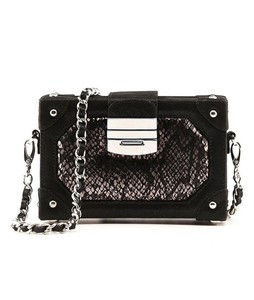 Julke Glam Mini Box Occasion Wear Womens Clutch Black