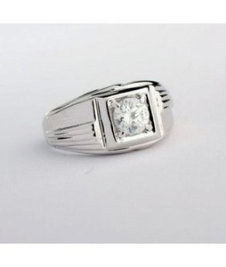 Attari Sterling Silver Crystal Diamond Ring For Men (AC-0185)