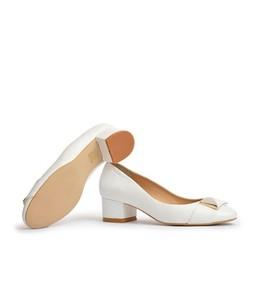 Julke 4EVA Block Heels For Women - White