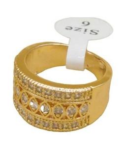 Waks Pk Gold Plated Ring For Women (0349)