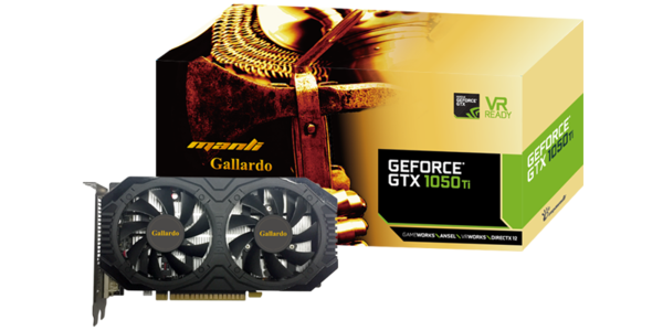 Manli GeForce GTX 1050Ti Gollardo 4GB Graphics Card