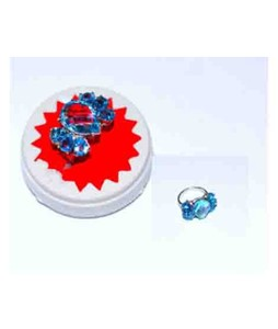 Gilgit Bazar Blue Topaz Heated Ring For Women (GB400)