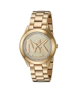 Michael Kors Mini Slim Runway Womens Watch Gold (MK3477)