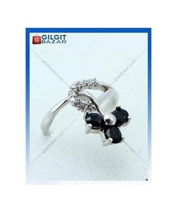 Gilgit Bazar Sapphire Stone Ring For Women (GB1898)
