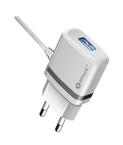 Space Micro USB Cable Wall Charger For iPhone White (WC-105)