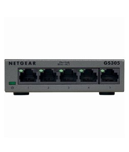 Netgear 5-Port Gigabit Ethernet Switch Gray (GS305-100PAS)