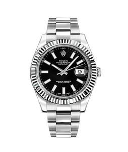Rolex Datejust II 41 Mens Watch Silver (116334-BLKSFO)